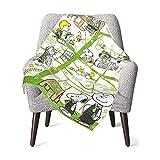 AEMAPE Snoopy Town Babydecke oder Flauschige Decke für Kinder Unisex-Decke für Kinderbett Couch Living Room Travel Superweiche warme Kinderdecke 50x40in