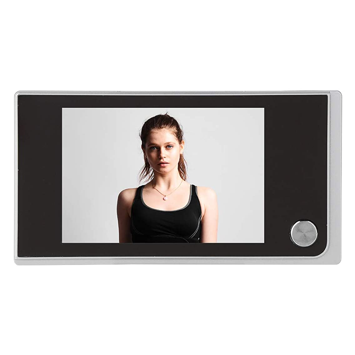 ASHATA Smart Video Doorbell, Door Camera Peephole Viewer with 3.5-inch Digital LCD Color Screen/ 120 Degree Actual Viewing Angle/24 Hours Monitoring for Your Home Security