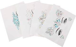 Beaupretty 4 Stuks Gezicht Tattoos Sticker Gezicht Juwelen Mermaid Gezicht Gems Gezicht Rhinestone Tijdelijke Tatoeages Vo...