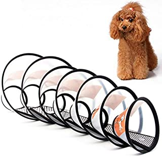 YAWALL Adjustable Recovery Cone Collar Dog Elizabethan Collar Cat Protective Collars Dog Neck Scraf for Anti-Bite Lick, Surgery or Wound Healing for Cat or Small Dogs