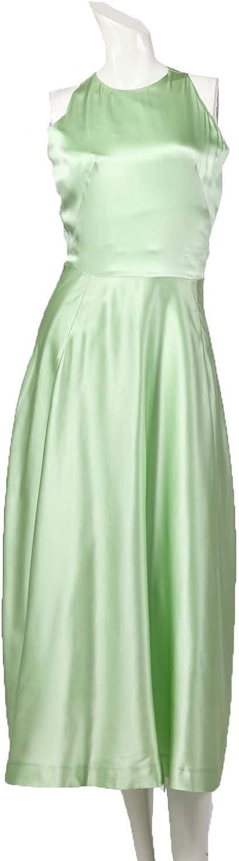 Angel&Lily Oversized Sleeveless Vintage Elegant Satin Slim Dress plus1x10x(SZ1652)