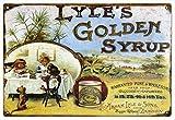 BITT Lyle'S Golden Syrup Fashion Chic Metal Sign Vintage Look Metal Placa Cartel Placa Cartel para Cafe Bar Garaje Decoración del Hogar 20x30cm