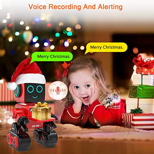Robot Toy, Remote Control Robot Toy for Kids, Intelligent Programming RC Robot, Suitable for Kids Aged 8 and over to Sing, Dance, Talk, Transfer Items and Play with Kids as a Gift for Child (red)
