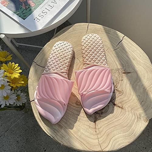 WENHUA El Verano de Las Mujeres al Aire Libre USA Zapatillas de Masaje de plástico, Pink_40