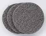 JUEGO de 3 DISCOS para la cristalización y abrillantado de pavimentos de mármol, terrazo, piedra, etc. con máquina abrillantadora doméstica con 3 platos de ø 12 cm.