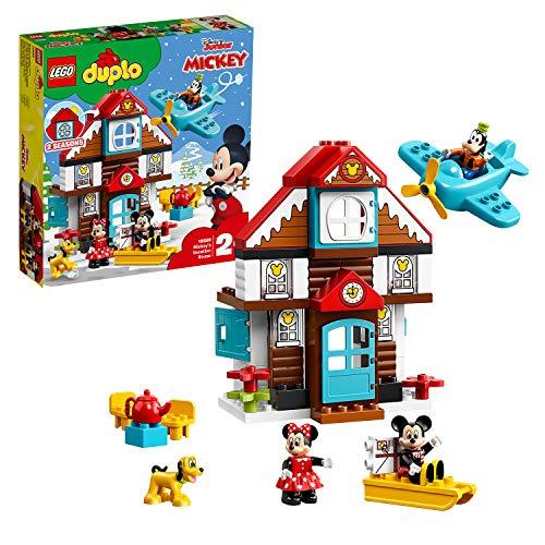 LEGO 10889 Disney Mickys Ferienhaus, Bauset für Kleinkinder im Alter von 2 Jahren mit Mickey Maus, Minnie Maus, Goofy und Pluto Figuren
