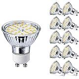 Yafido GU10 LED Ampoule Blanc Chaud 5W Equivalent à 50W Halogène Lampe Spot 3000K...