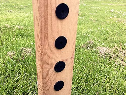 3 mm avståndshållare med monteringsstöd (koppar) 20 stycken distanser för trästolpar, rombskenor, staketpilar, trädgårdsstaket, staketbrädor eller rombprofiler