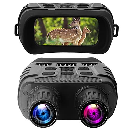 Occhiali per la Visione Notturna Binocolo, 7X Livello IR a infrarossi HD Fotocamera Digitale per Notturna Schermo LCD, Registrazione di Foto e Video per avvistamento di Caccia, monitoraggio Fino 300m