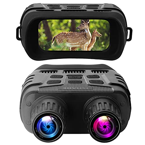 Linkstyle Night Vision Goggles Binoculars, 7x IR Level Infrared Lighting HD zoom Digital Night Vision Camera with LCD Screen, Dual Photo + Video Recording for Spotting Hunting, Tracking up to 300m