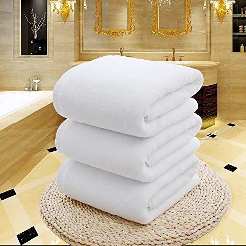 Gbcyp Witte grote badhanddoek Katoenen dikke handdoeken Home Badkamer Hotel Volwassenen Kinderen Badhanddoek Badhanddoek, wit, 75x150cm 600g