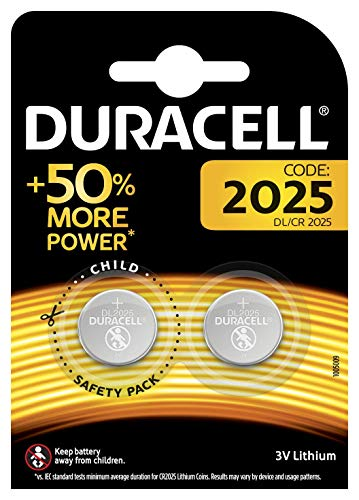 Duracell DL2025/CR2025 - Pilas especiales de botón de litio 2025 de 3 V,...