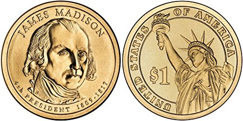 2007 D James Madison, 25-coin Bankroll of Presidential Dollars Uncirculated