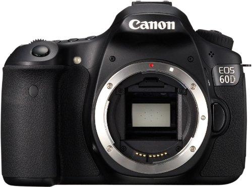 Canon EOS 60D SLR-Digitalkamera (18 MP, 7,7cm (3 Zoll) Live-View, Full-HD Movie) Gehäuse) schwarz