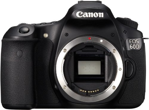 Canon EOS 60D SLR-Digitalkamera (18 MP, 7,7cm (3 Zoll) Live-View, Full-HD Movie) Gehäuse) schwarz