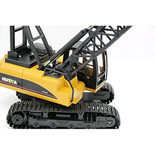 RC Auto kaufen Baufahrzeug Bild 2: s-idee® S1572 Rc Kranwagen Bagger mit Ketten Licht Sound Metallbauteile 15 Kanal 1:14 mit 2,4 GHz Kran Huina 1572*