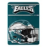 Northwest NFL Philadelphia Eagles 46x60 Micro Raschel Run Design RolledBlanket, Team Colors, One Size (1NFL059050011RET)