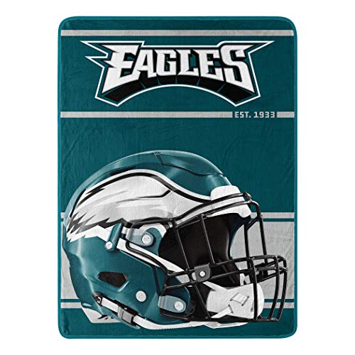 Northwest NFL Philadelphia Eagles 46x60 Micro Raschel Run Design RolledBlanket, Team Colors, One Size