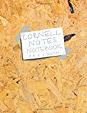 Cornell Notes Notebook 8.5 x 11 Inches: Oriented Strand Board (OSB) and Word Art Cover 120 Pages Soft Matte Cover