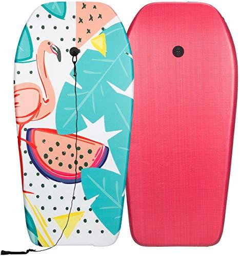 Weime Bodyboard Surfbrett 93x45x5,2cm Flamingo