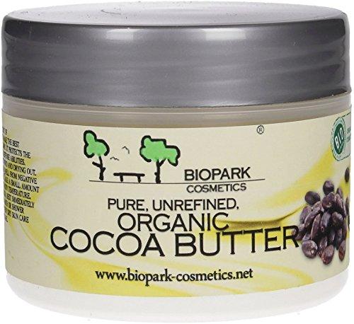 biopark Cosmetics biopark Beurre de Cacao 100 g ? certifié bio ? Cosmétique naturel ? 100% Pures et Naturelles, tierversuchsfrei, végétalien