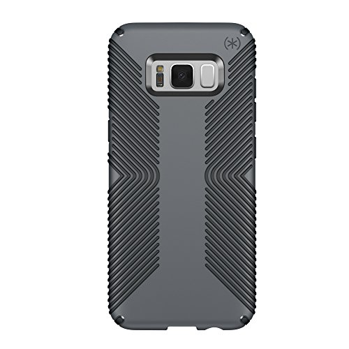 Speck Products Presidio Grip Cell Phone Case for Samsung Galaxy S8 Plus - Graphite Grey/Charcoal Grey