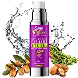 Sage Organix Lifting Firming Eye Gel Serum, 75% Organic Under Eye Serum for Dark Circles, Wrinkles, Puffy Eyes, Under Eye Bags, Depuffing Eye Serum + Plant Stem Cells, Matrixyl 3000, 1.7 oz