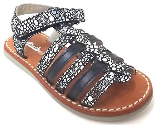 Minibel - Chaussures Noel - Sandales - Nu Pieds - MODELE Paris Marine/Argent - Taille 37 EU
