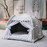 WANK Pet Teepee House for Puppy Kitten Portable Small Dog Tents Kennel All-Season Cute Comfortable Cat Sleeping Bed