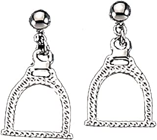 Exselle Stirrup Earrings Textured