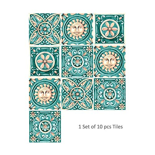 Appearantes Cz10P036 Italy Home Wall Stickers Kitchen Bathroom Tile Stickers 10 PCS Colorful