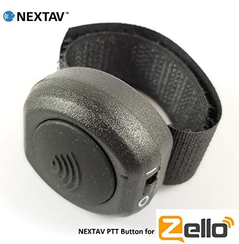 NEXTAV - Botón Bluetooth inalámbrico para aplicación Zello Walkie Talkie para iOS iPhone iPad con correa de cierre (NX-U2i)