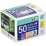 エコリカ エプソン(Epson)対応 リサイクル インクカートリッジ IC6CL50 6色セット (目印:ふうせん) ECI-E506P/BOX