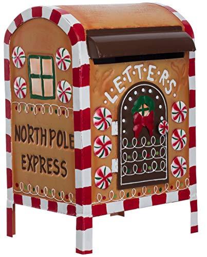 Brandsseller Weihnachtlicher Deko Briefkasten American Christmas Style Metall ca.33cm Mehrfarbig
