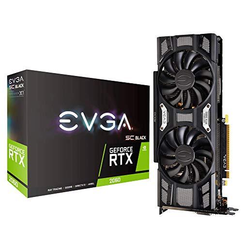EVGA GeForce RTX 2060 SC BLACK GAMING, 06G-P4-1762-KR, 6GB GDDR6, Dual DBB Fans, Metal Baseplate