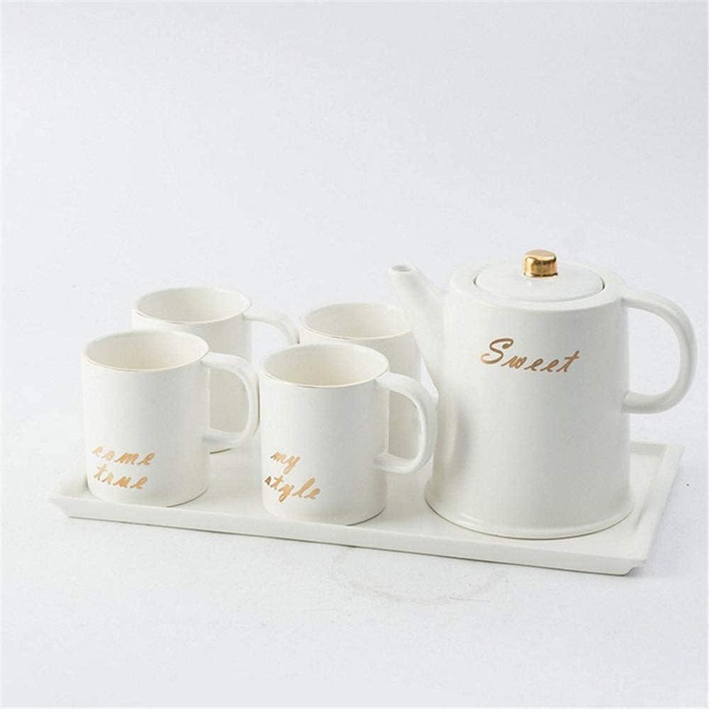 TEAYASON Porcelain Teacup Set Ceramic Very popular Simple Teapot Gift Superlatite Cer