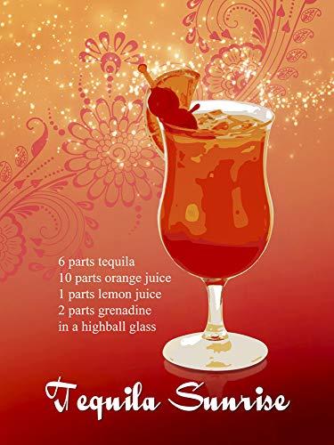 1art1 Cocktails - Tequila Sunrise Bilder Leinwand-Bild Auf Keilrahmen   XXL-Wandbild Poster Kunstdruck Als Leinwandbild 40 x 30 cm