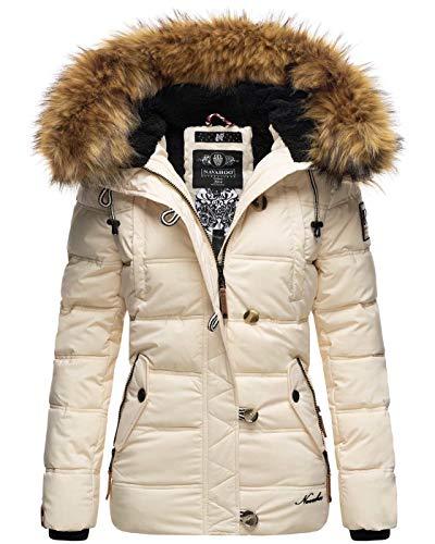 Navahoo warme Damen Winter Stepp Jacke Teddyfell Winterjacke Parka Mantel B831 [B831-Zoj-Beige-Gr.M]