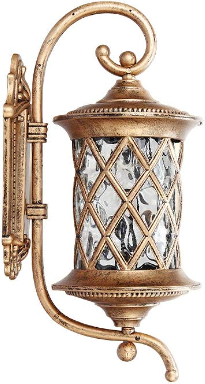 GaoHX Wandlampe Wandleuchte, Im freien wasserdichte Wandlampe europische geführte Balkonlampe im Freienhof-Wandlampe amerikanische unbedeutende Türlampe Retro- Wand (Farbe   Bronze-S)