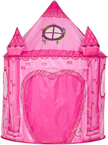 Benebomo Tienda de campaña de juego rosa, carpas para niños, castillo de princesa, tienda de campaña para niños, tienda de campaña de jardín, con bolsa de transporte