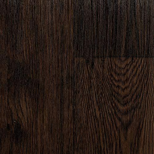 TAPETENSPEZI PVC Bodenbelag Landhausdiele Dunkel   Vinylboden in 2m Breite & 5,5m Länge   Fußbodenheizung geeignet   Vinyl Planken strapazierfähig & pflegeleicht   Fußbodenbelag Gewerbe/Wohnbereich
