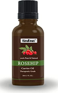 Nankings Rosehip Seed OIl Pure and Natural Cold Pressed Therapeutic Grade Oil (30ml)