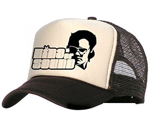 Raphia Art Casquette en maille – King of Sound en or, Brown ou Grey - Marron - Taille Unique