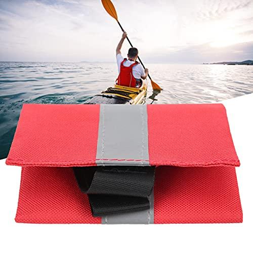 Wosune Bandera de Seguridad para Kayak, portátil, práctica, Liviana, para Kayak, roja, Bandera de Seguridad para Viajes, Plegable para remolcar Kayaks para Barcos para canoas(Reflective Strip)