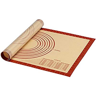 Silicone Baking Pastry Mat With Measurement Non-slip Silicon For Dough Rolling Mat Fondant Pie Crust Kneading,Cookie/Cake/Bread Making Oven Baking Pad