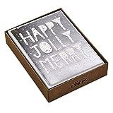Hallmark - Tarjetas de Navidad con caja de tinta para estudio (12 tarjetas con sobres)