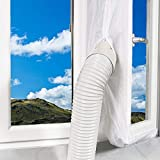 Ozkak Guarnizione Finestra Climatizzatore per condizionatore Portatile e Scarico Aria essiccatori, Adatto a finestre con Una Circonferenza Inferiore a 400 cm