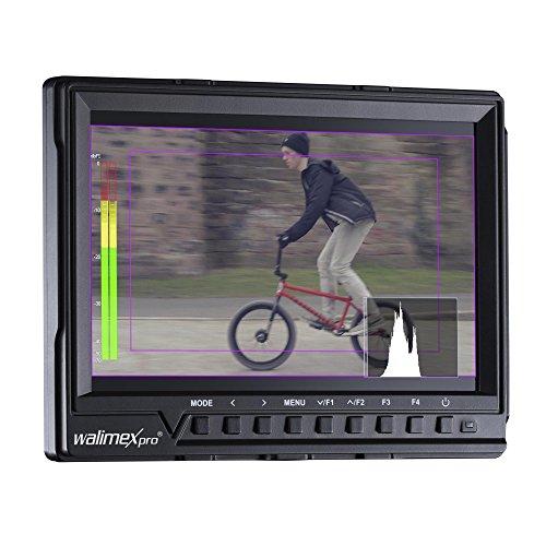Walimex Pro Full HD Monitor Director III (inkl. 1x Akku, mit HDMI und AV Eingang, IPS-Panel, 7 Zoll) schwarz