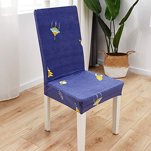 AKDsteel Abnehmbarer Stretch-Druck Stuhlbezug für Hochzeiten, Bankette, Klappstuhl Alien Space