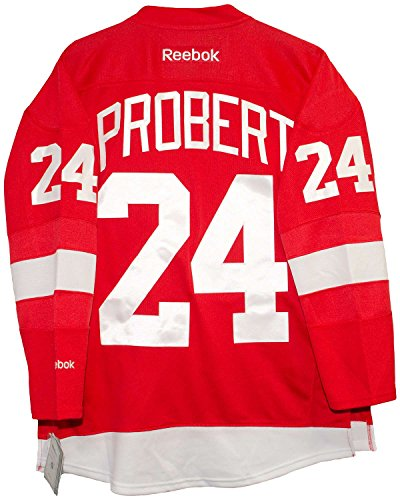 Reebok Bob Probert Detroit Red Wings Home Red Premier Jersey Sewn Tackle Twill Name and Number (Small)
